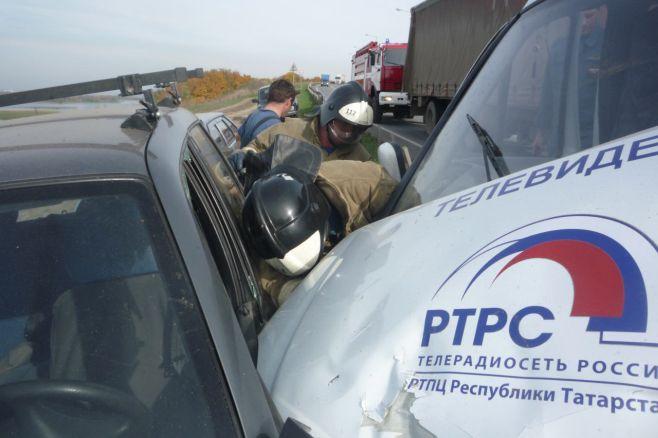 Под Казанью массовое ДТП с участием 5 машин