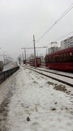 трамваи - обледенение