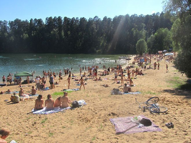 пляж казань