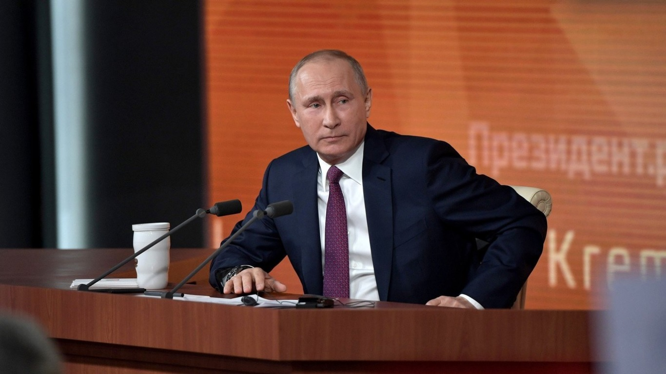 путин фото пресс конференция