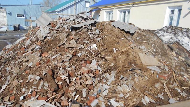 свалка строительный мусор