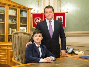 11-летний Джейхун Ахмедов побыл сегодня мэром Казани