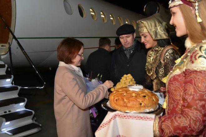 В Казань прибыли Эльвира Набиуллина и Герман Греф