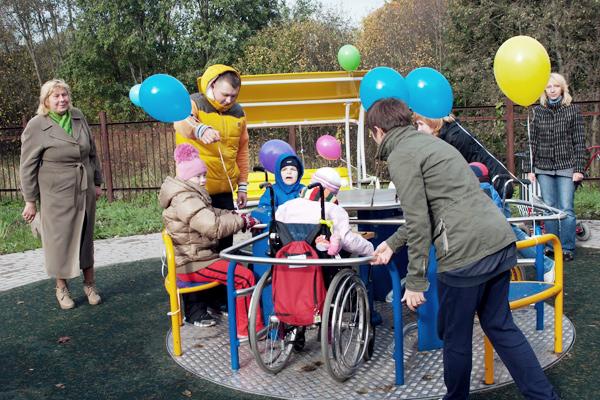 игровая площадка для детей-инвалидов