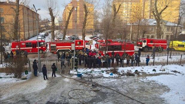 пожар в школе №32