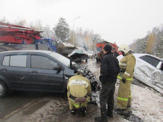 Натрассе Казань-Малмыж столкнулись 5 машин