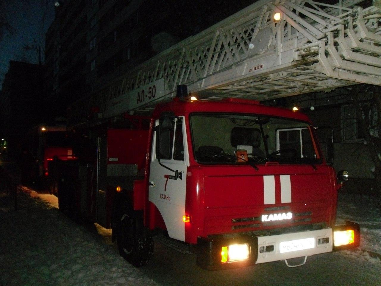 15 человек спасли на пожаре