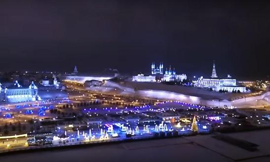 казань кремль ночью фото