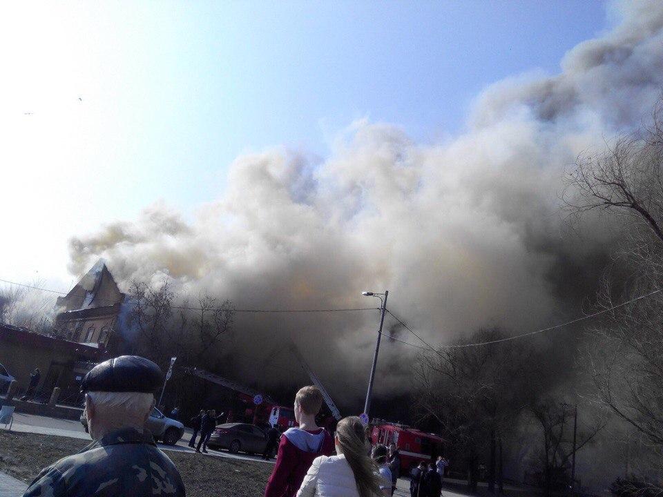 пожар в центре Казани