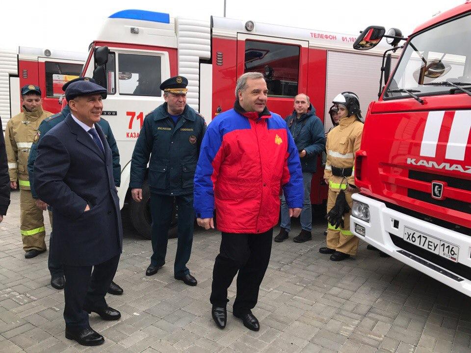 ВКазань прибывает руководитель МЧС РФ Владимир Пучков