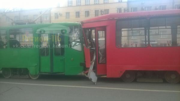 ВКазани в итоге столкновения трамваев пострадали 5 человек