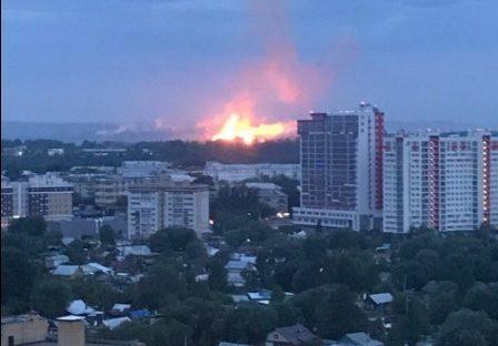 пожар пороховой завод ночью