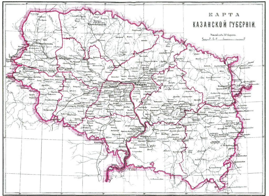 карта казанской губернии