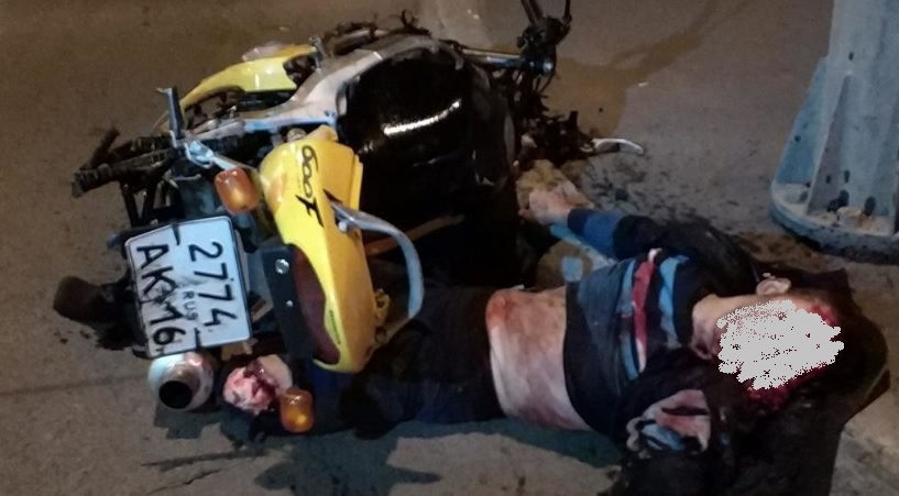 фото мотоциклист разбился казань