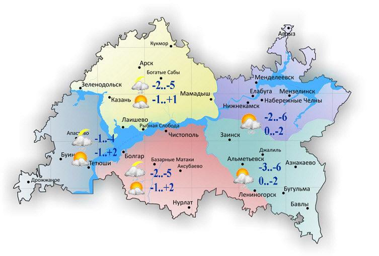 ВТатарстане будет гололедица инебольшой снег