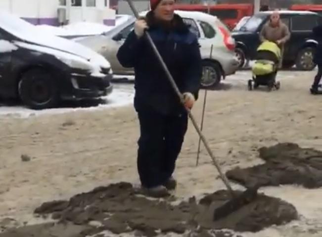 асфальт снег в казани