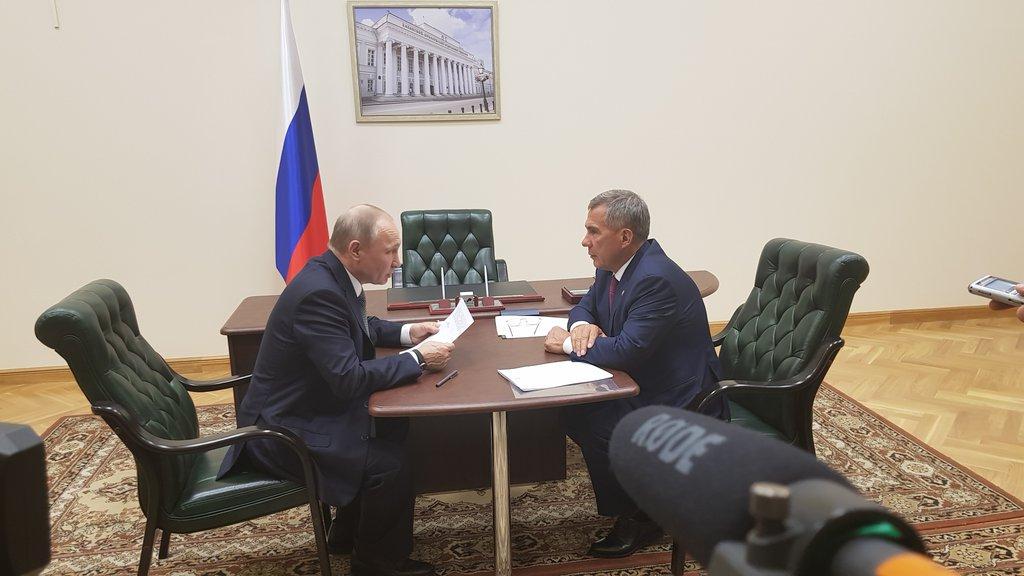 Владимир Путин и Минниханов