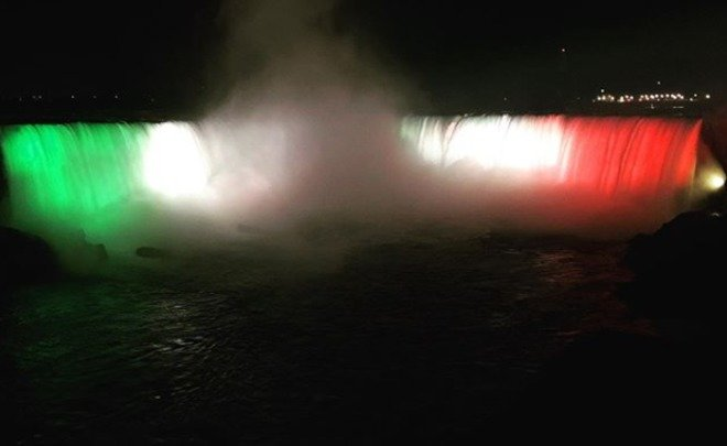 водопад флаг рт световое шоу