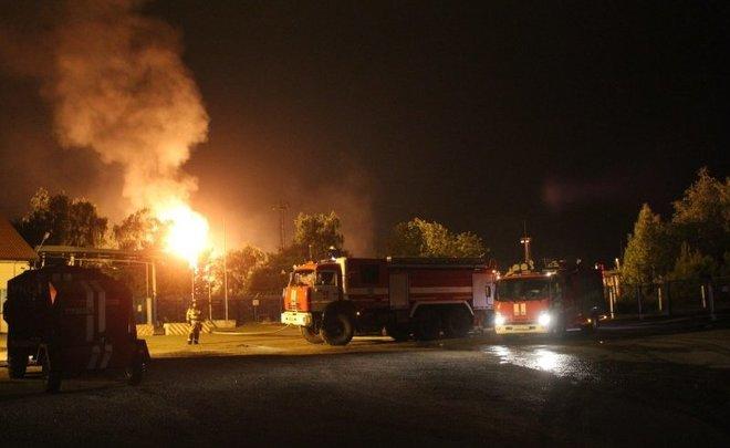 пожар газохранилище